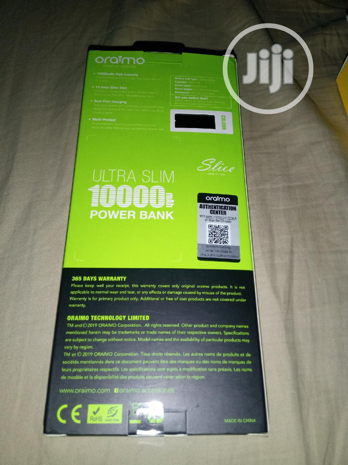 10,000mah Oraimo Powerbank With Dual Usb | Accessories for Mobile Phones & Tablets for sale in Ibadan, Oyo State, Nigeria