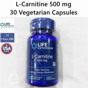 Life Extension L Carnitine 500mg 30 Caps Healthy Cellular En | Vitamins & Supplements for sale in Lagos State, Amuwo-Odofin