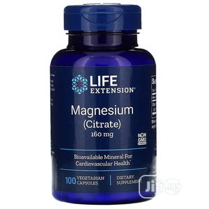 Life Extension Magnesium Citrate 160 Mg 100 Vegetarian Capsu | Vitamins & Supplements for sale in Lagos State, Amuwo-Odofin