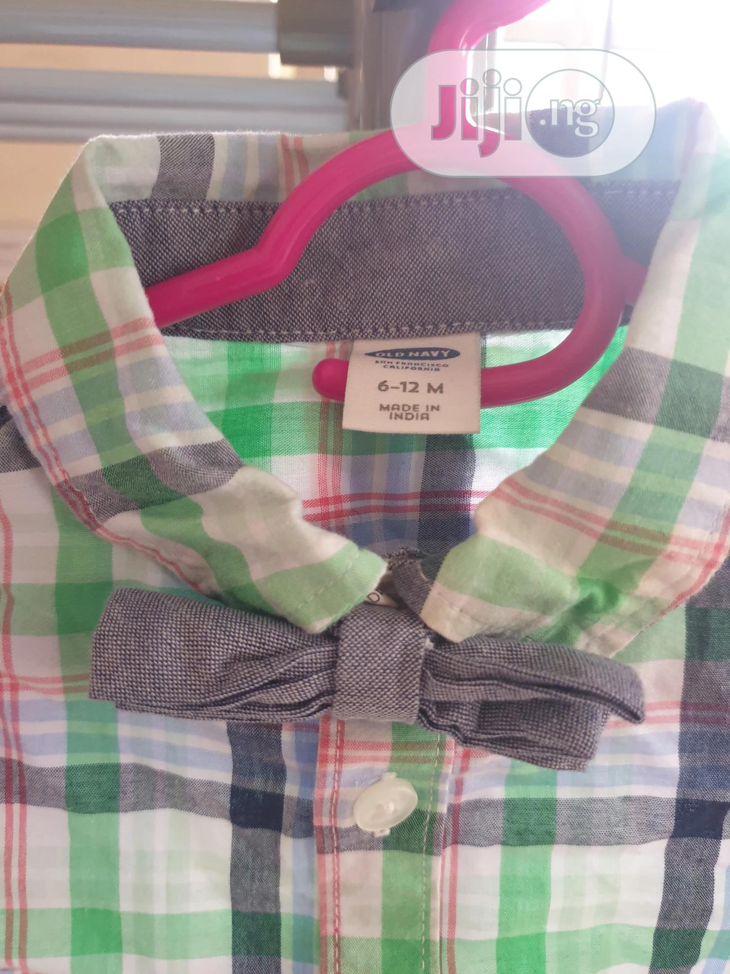 Oshkosh Shirt With Bow Tie | Children's Clothing for sale in Port-Harcourt, Rivers State, Nigeria