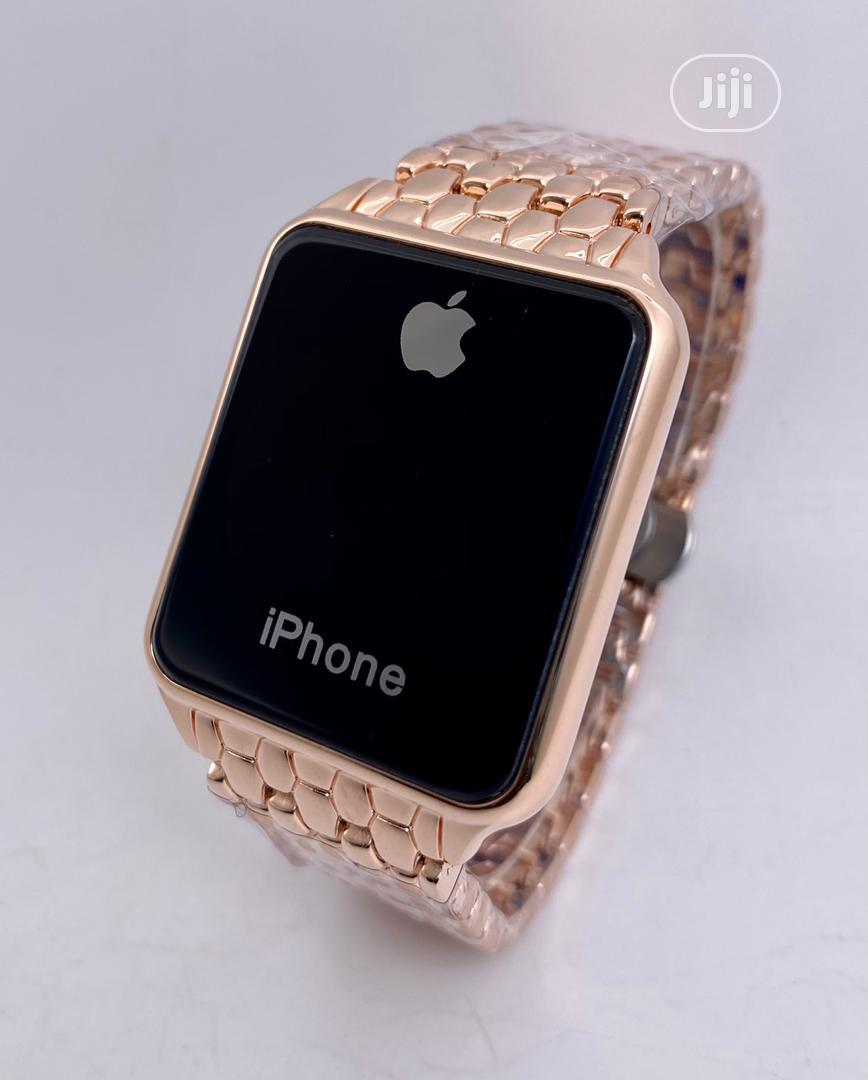 iPhone Wristwatch GOLD | Smart Watches & Trackers for sale in Benin City, Edo State, Nigeria