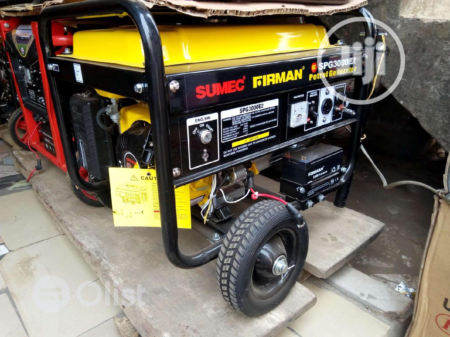 Archive: Sumec Firman 2.8KVA (Spg3000es) With Key Starter Pure Copper