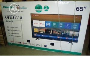 Hisense 65inches Smart TV With Free Wall Hanger   TV & DVD Equipment for sale in Lagos State, Alimosho