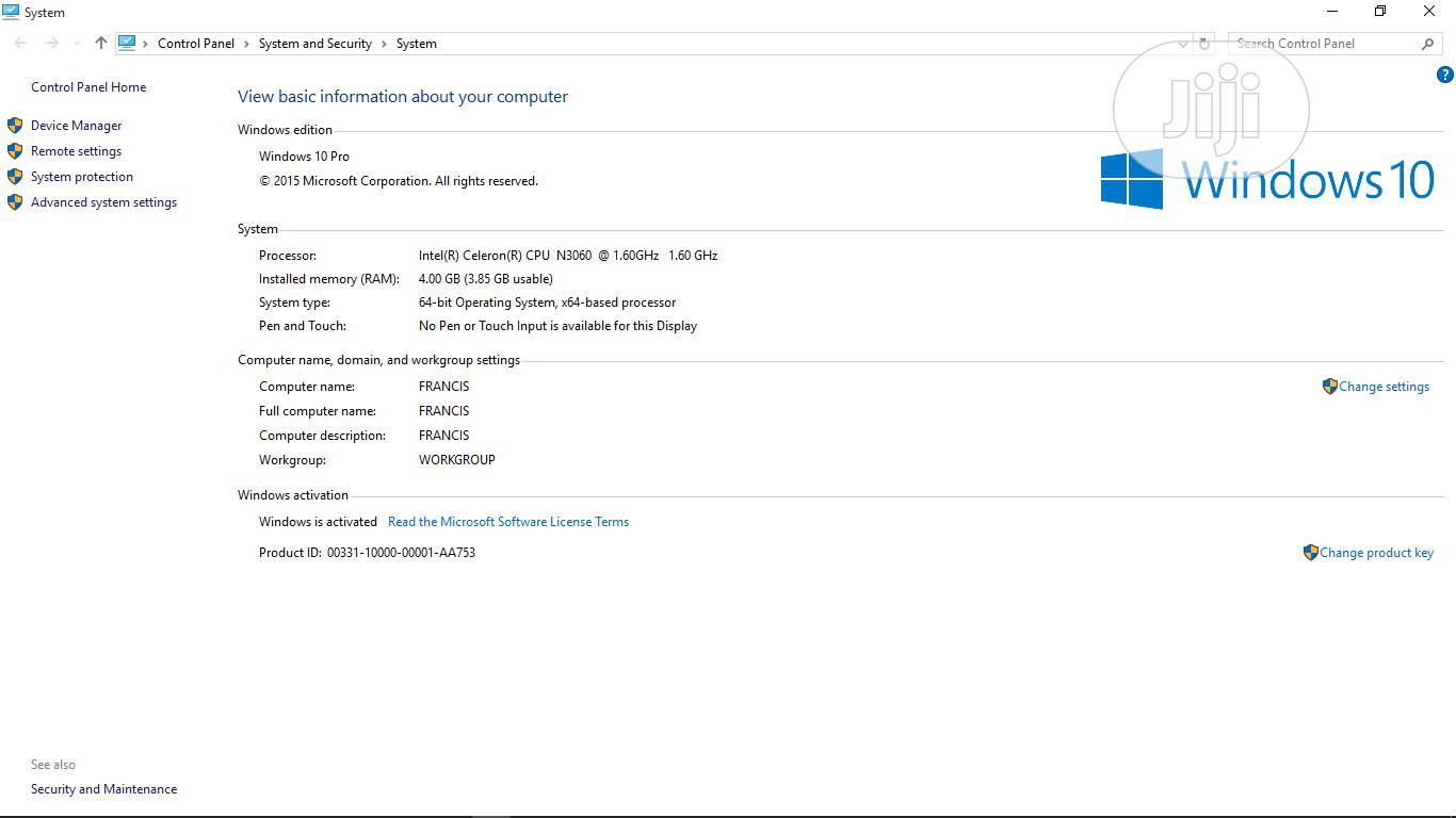Archive: Laptop HP 250 G5 4GB Intel Celeron HDD 500GB