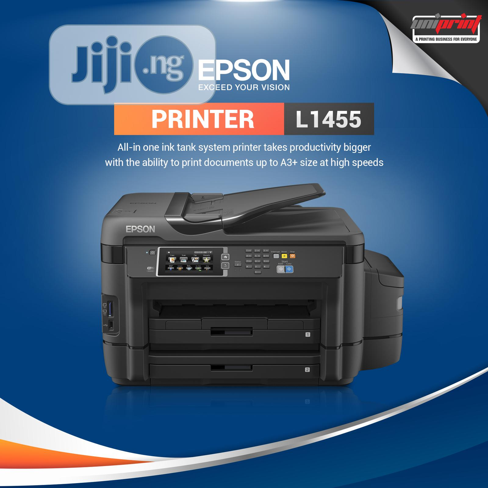 Epson L1455 A3 Wi-fi Duplex All-in-one Ink Tank Printer   Printers & Scanners for sale in Ikeja, Lagos State, Nigeria