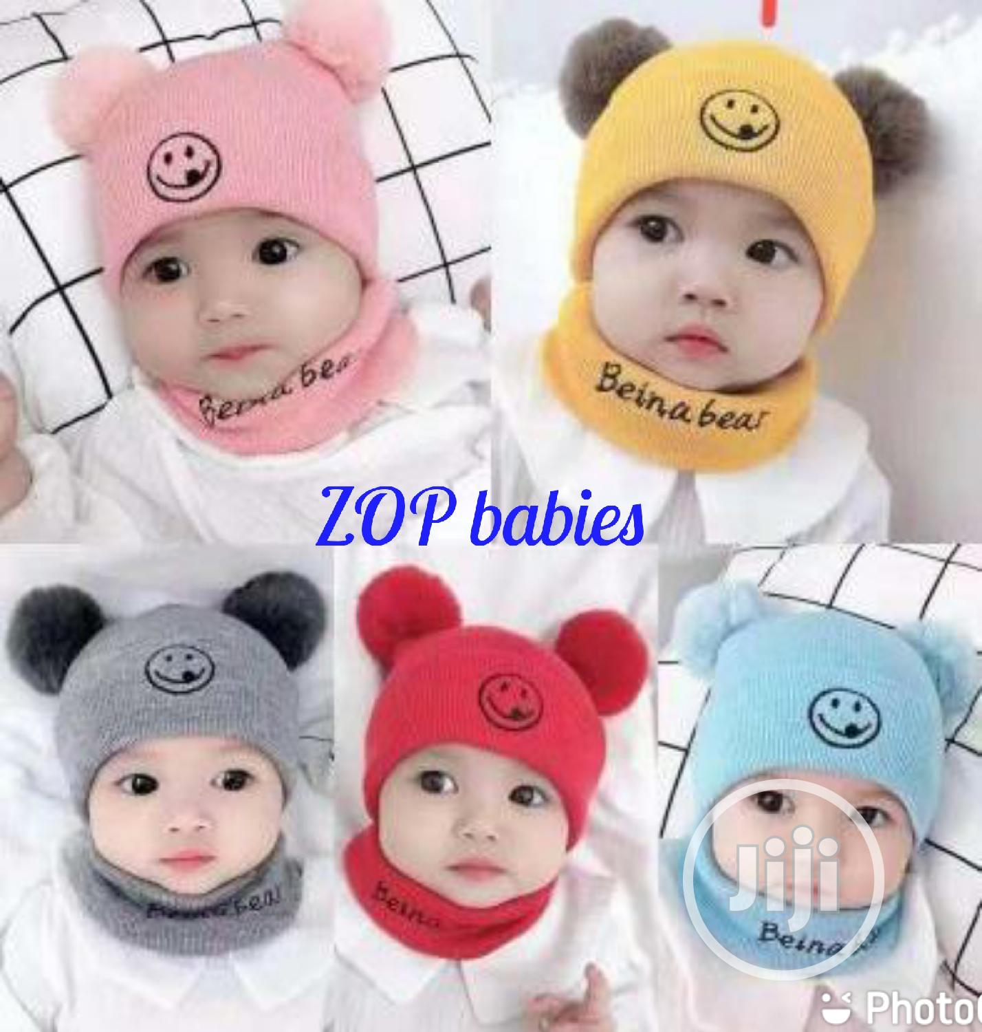 Baby Cap With Neck Band
