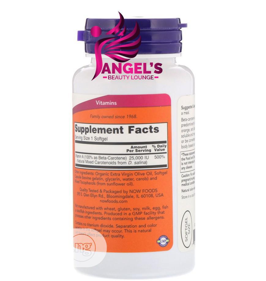Now Foods Natural Beta Carotene IU 90 Softgel   Vitamins & Supplements for sale in Ojo, Lagos State, Nigeria