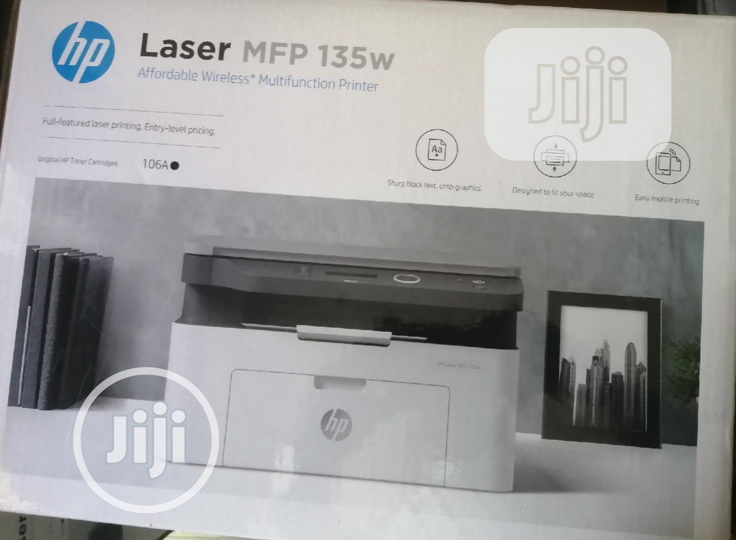 HP Hp Laserjet M135w Wireless Mfp Printer.   Printers & Scanners for sale in Ikeja, Lagos State, Nigeria