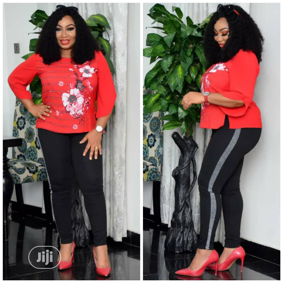 New Female Quality Turkey Red Top And Jeggings | Clothing for sale in Lagos Island (Eko), Lagos State, Nigeria