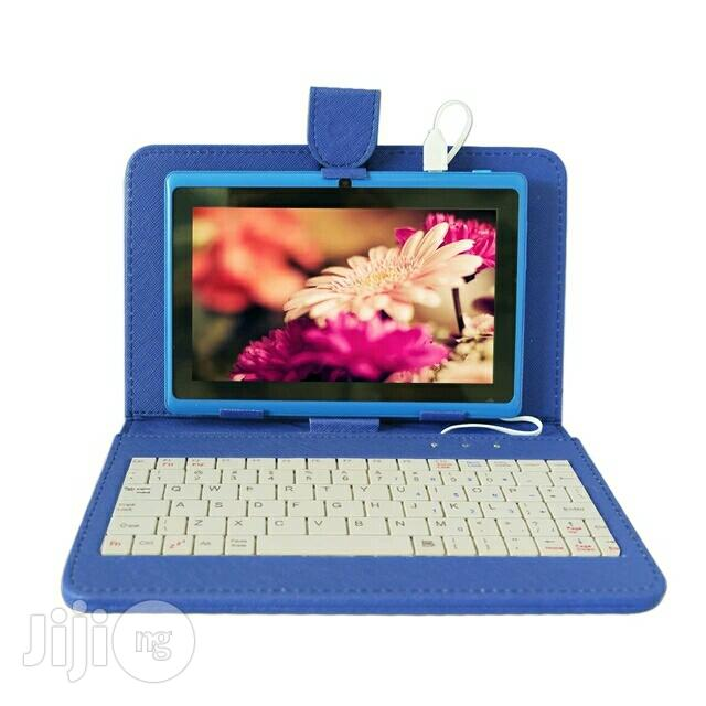 Kids Educational Tablet PC With Free Keyboard Case Blue