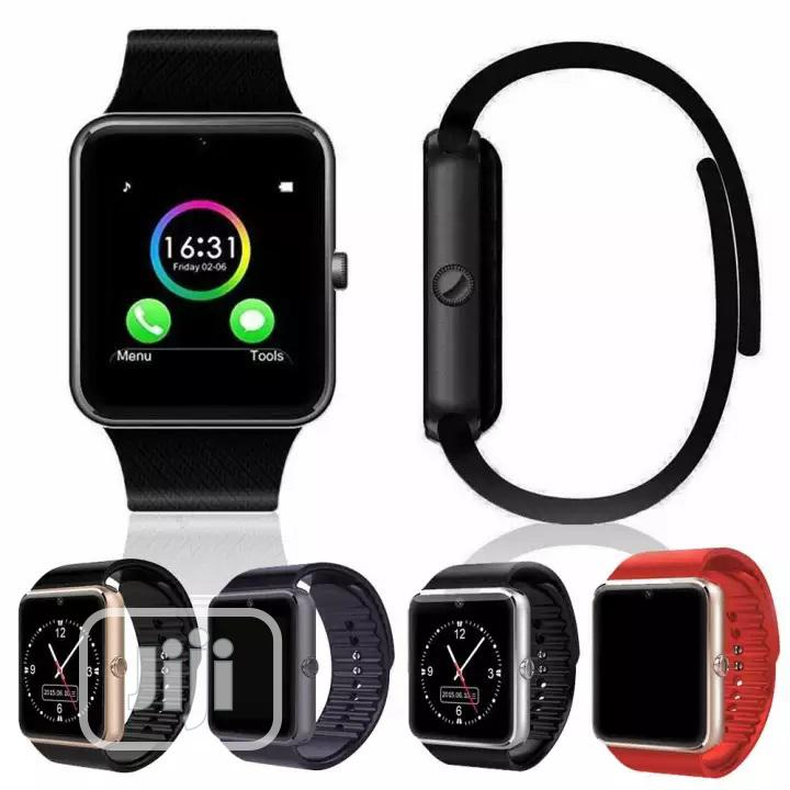 GT08 GSM Bluetooth Smartwatch With Camera, SIM & Memory Card | Smart Watches & Trackers for sale in Ikeja, Lagos State, Nigeria