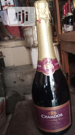 Chamdor Red Sparkling Grape Fruit Wine 2bottles | Meals & Drinks for sale in Lagos State, Surulere