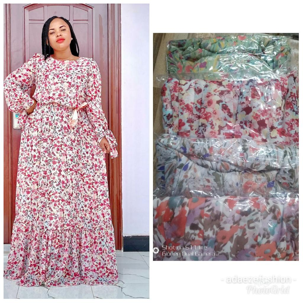 Classic Ladies Long Chiffon Dress | Clothing for sale in Ikeja, Lagos State, Nigeria