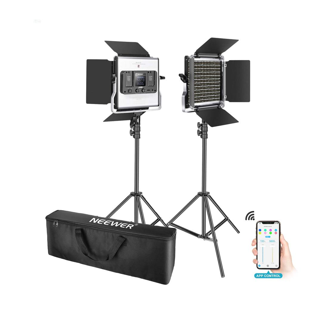 Neewer 2 Packs 660 LED Video Light With APP Control