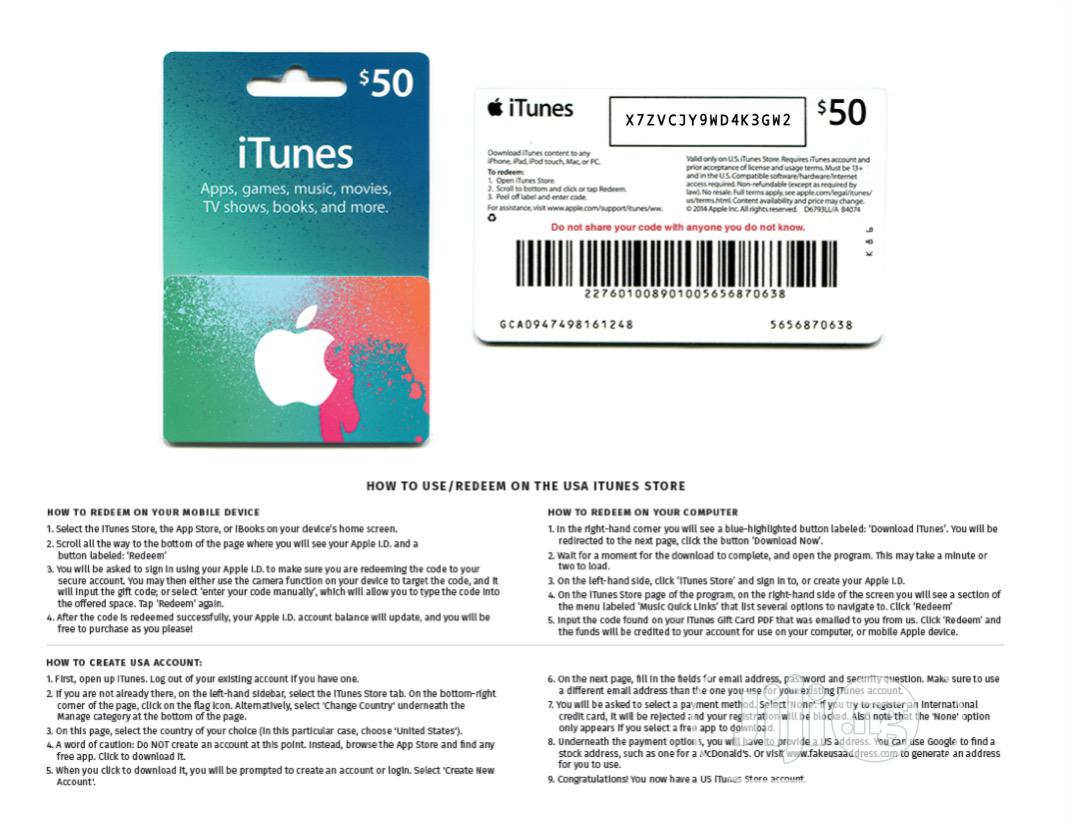iTunes Gift Card US | Accessories for Mobile Phones & Tablets for sale in Amuwo-Odofin, Lagos State, Nigeria