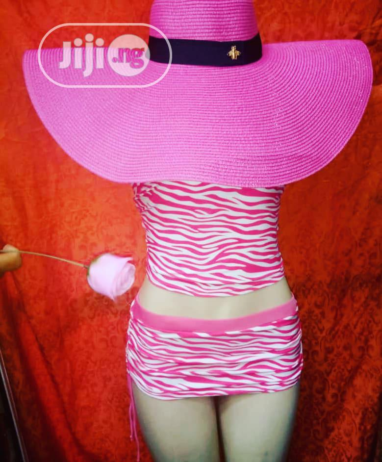 Wide Pink Beach Hat/Sun Hat