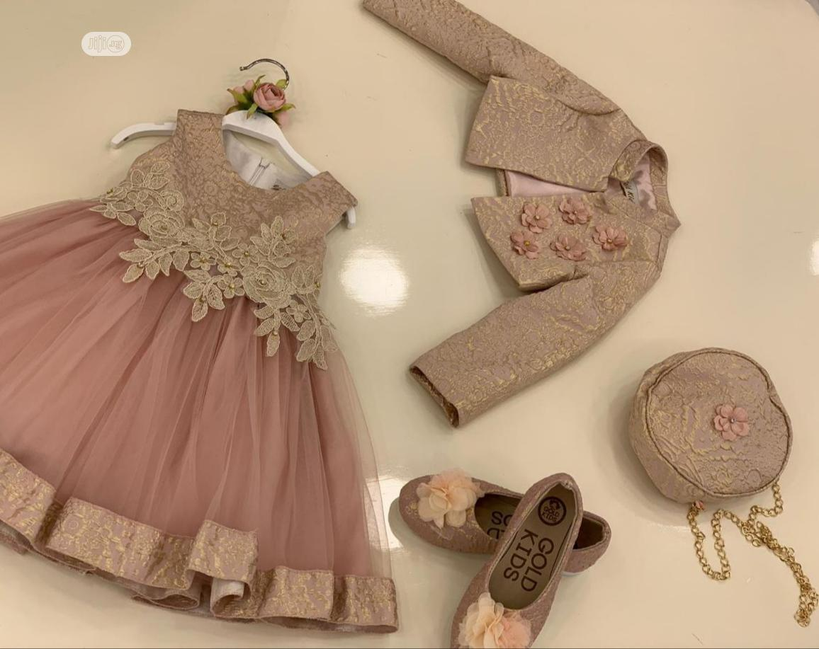 Archive: Turkey Ball Gown With Shoe And Bag For Girls
