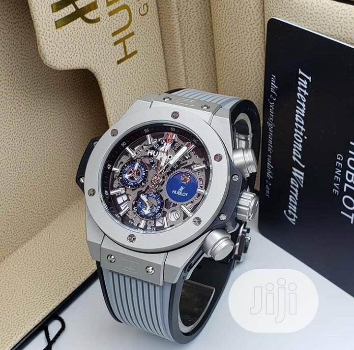 High Quality Hublot Rubber Strap Watch For Men | Watches for sale in Magodo, Lagos State, Nigeria