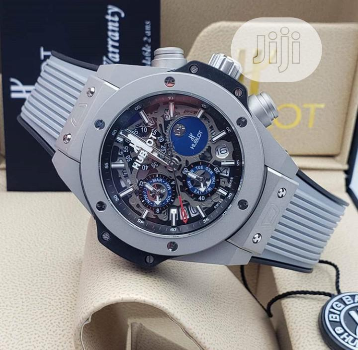 High Quality Hublot Rubber Strap Watch For Men
