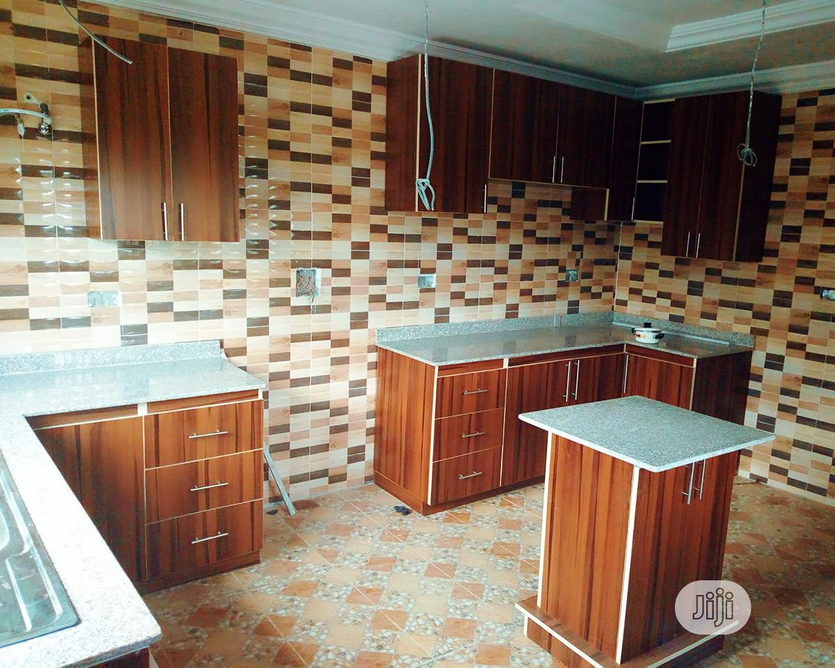 Kitchen Cabinets In HDF Material With Marble Top | Furniture for sale in Oluyole, Oyo State, Nigeria
