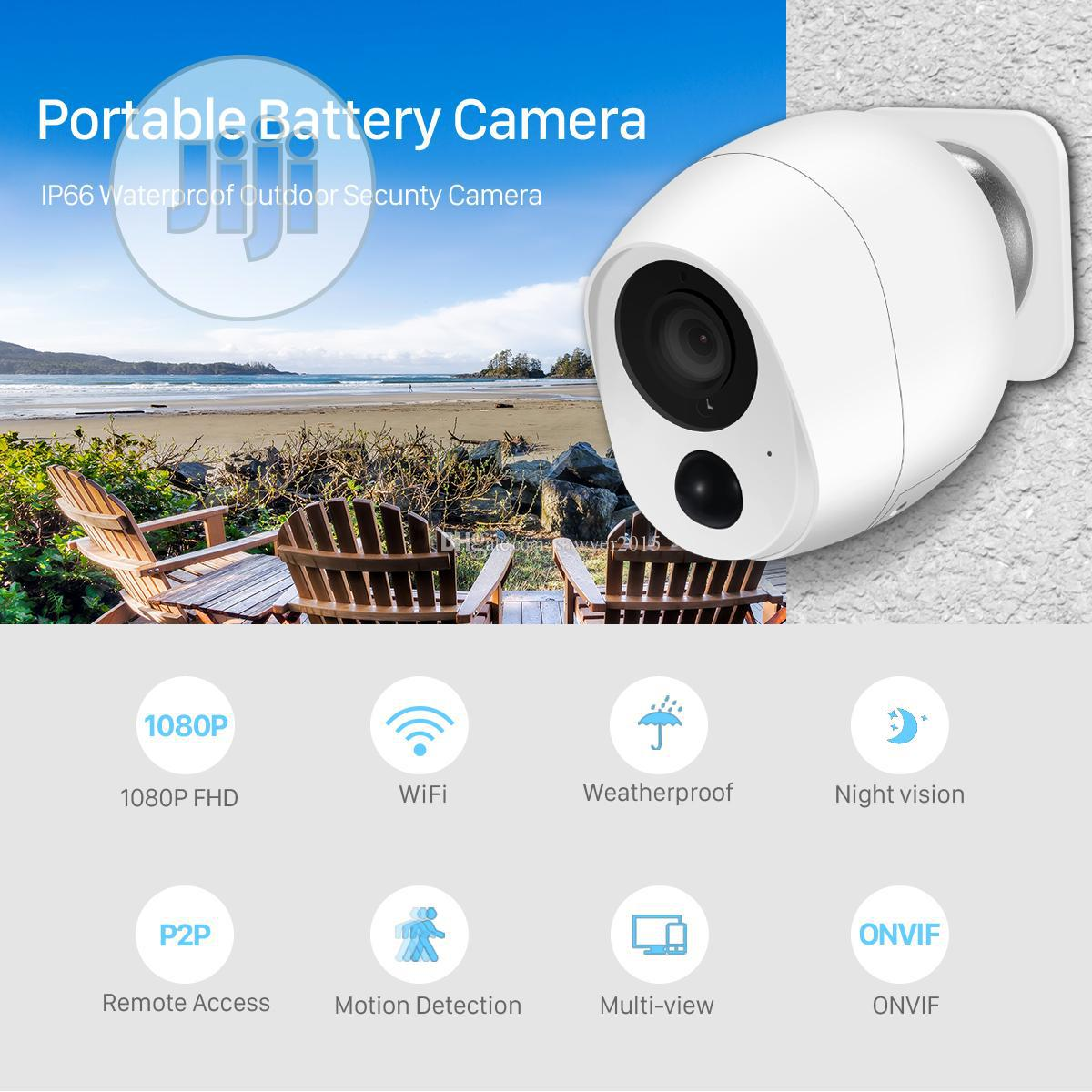 Battery Powered WIFI IP Camera 1080P | Security & Surveillance for sale in Ikeja, Lagos State, Nigeria