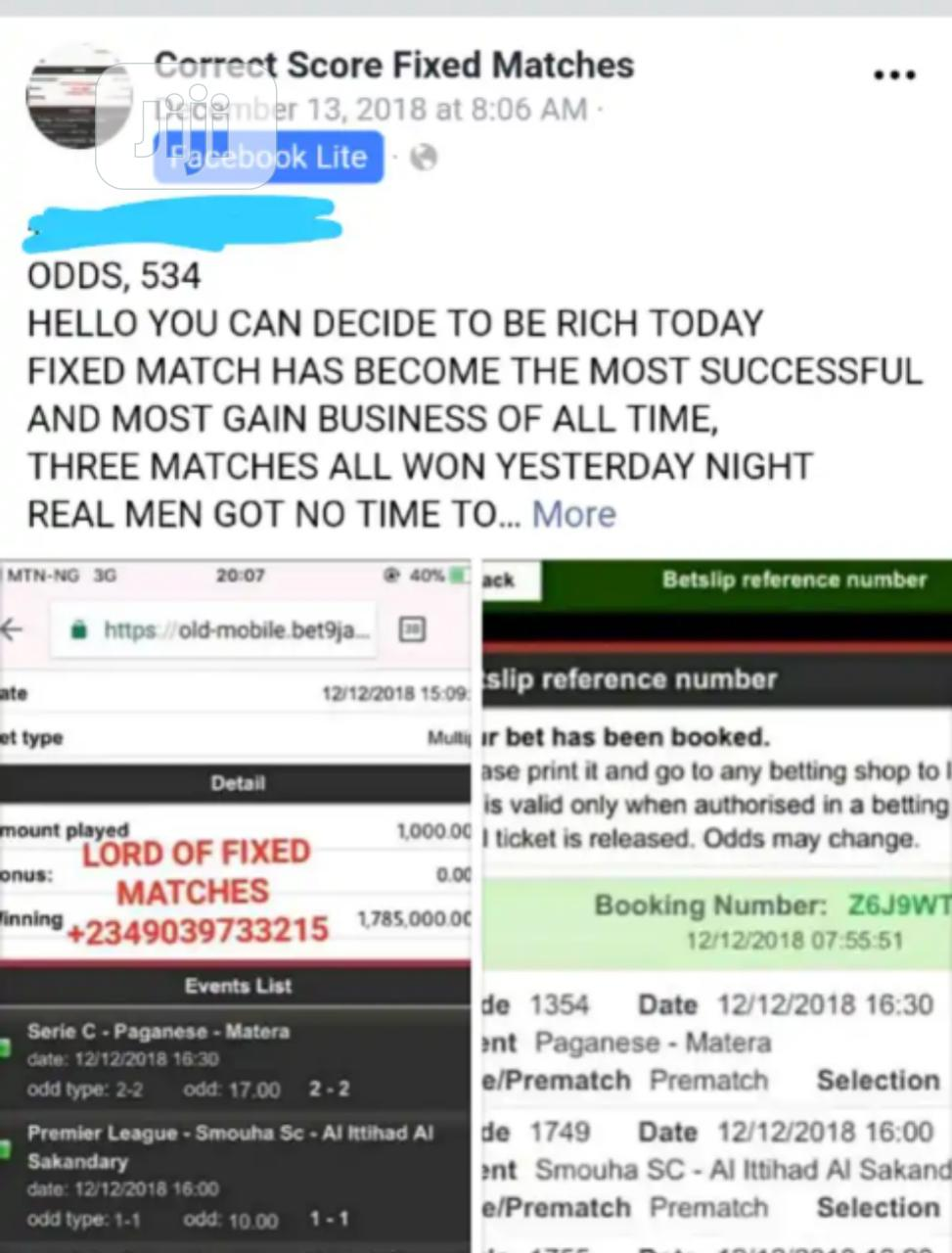 Archive: How to Make 1 Million Naira Selling Fixed Matches.