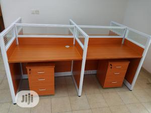 Quality Imported 4 Man Office Workstation Table With Drawers | Furniture for sale in Lagos State, Victoria Island