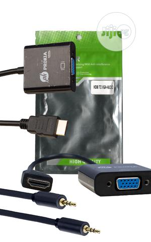 Hdmi To Vga Converter With Audio Cable | Accessories & Supplies for Electronics for sale in Lagos State, Lagos Island (Eko)
