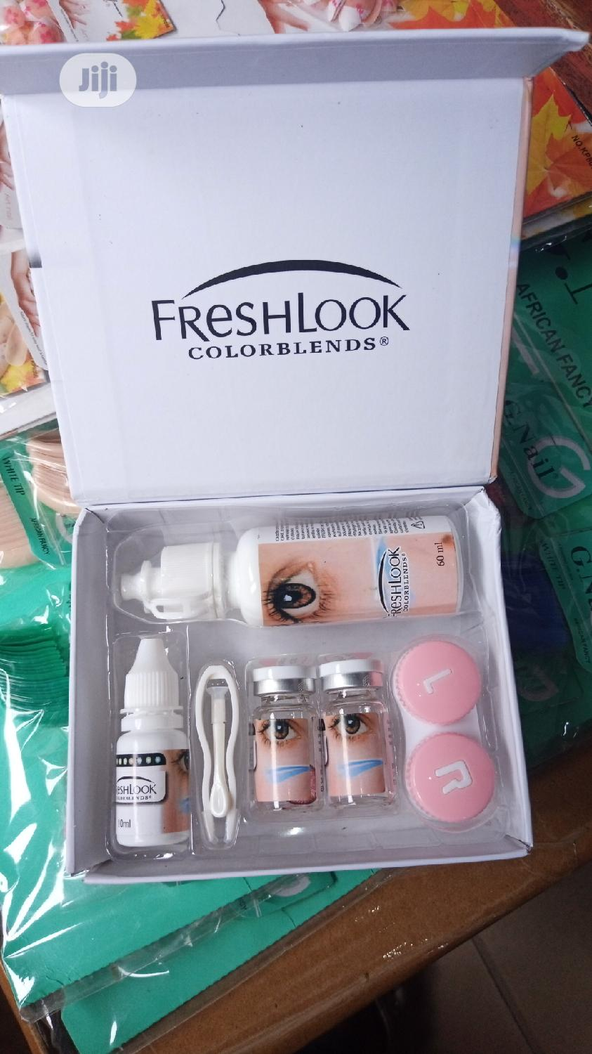 Eye Contact Lens Complete Set With Solution