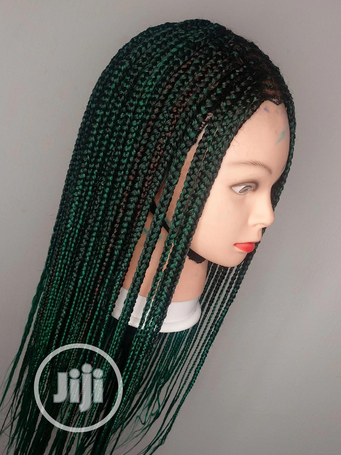 Green Light Weight and Scanty Braid Wig.