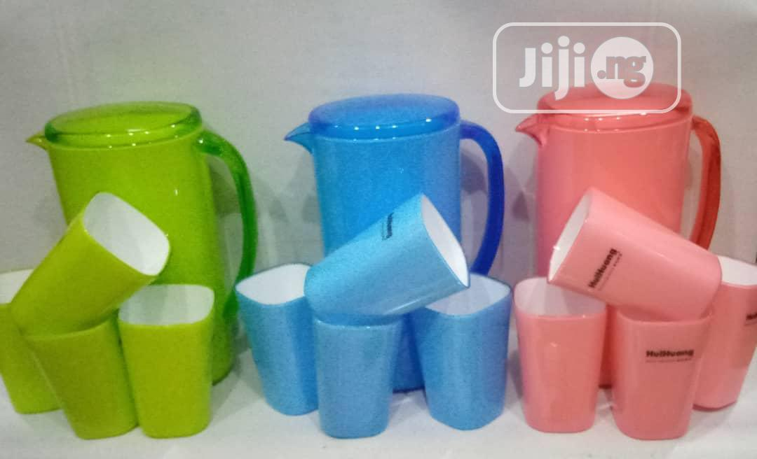 Set of Acrylic Jug With Four Cups