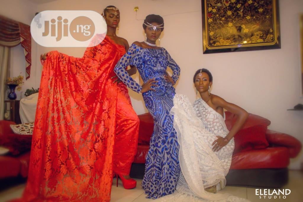 3D White Sequins Embroidered Lace   Wedding Wear & Accessories for sale in Ikoyi, Lagos State, Nigeria