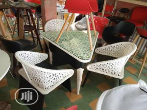 Restaurant Table And Chairs Set In Classic White   Furniture for sale in Lagos State, Ojo