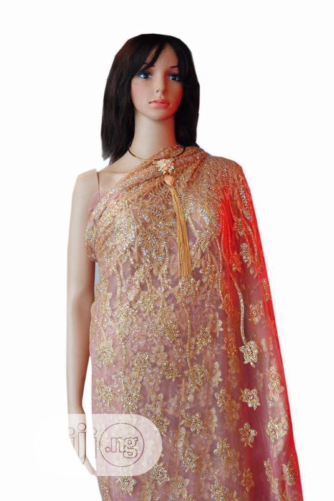 3D Flower Glitter Embroidery Lace   Wedding Wear & Accessories for sale in Ikoyi, Lagos State, Nigeria