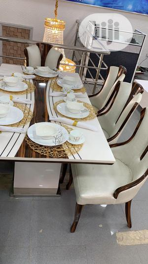 White Dining Table With 6 Chairs   Furniture for sale in Lagos State, Ojo