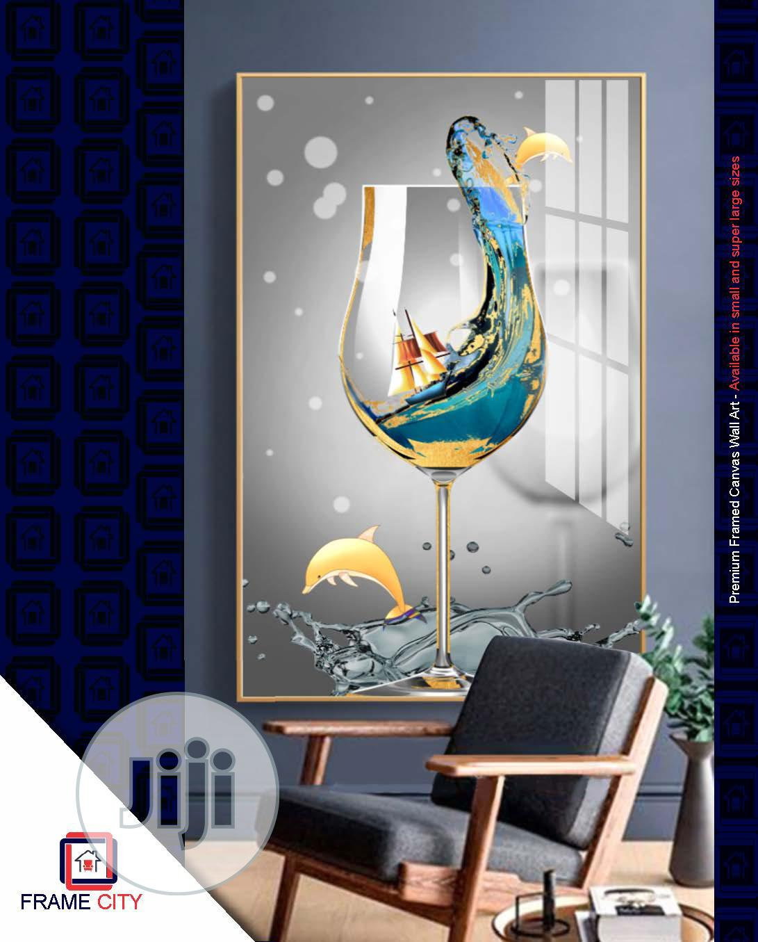 Premium Framed Digital Canvas Artwork.