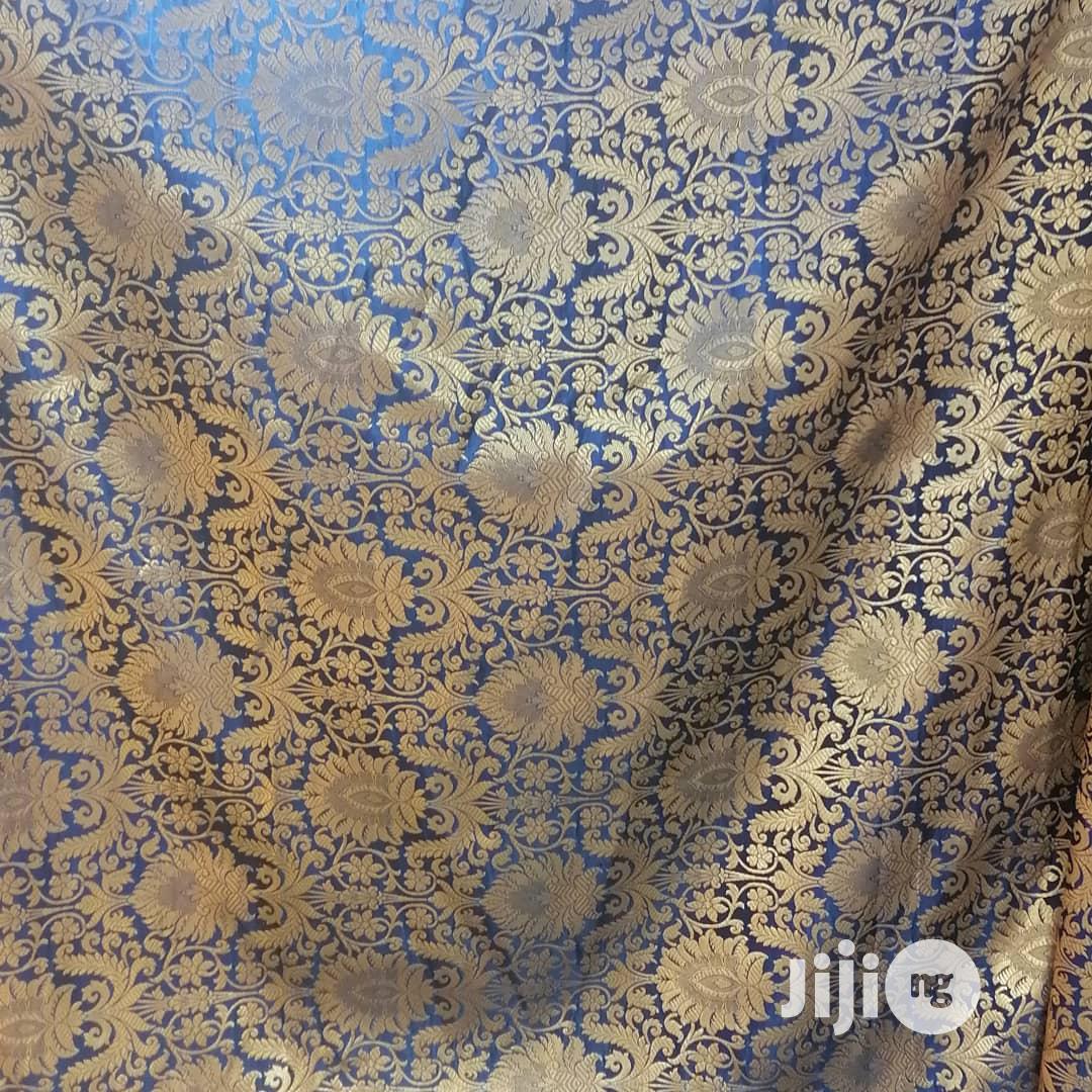 Sherwani Brocade Bule and Gold   Wedding Wear & Accessories for sale in Ikoyi, Lagos State, Nigeria