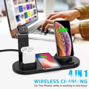 4-1 Wireless Charging Station | Accessories for Mobile Phones & Tablets for sale in Lagos State, Ojodu