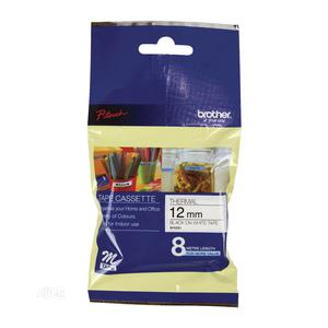 Brother 12MM MK231 Black On White Non-laminated Tape | Stationery for sale in Lagos State, Victoria Island