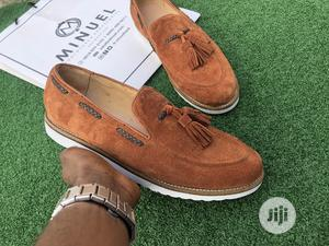 Golden Brown Suede Loafers With Tassel   Shoes for sale in Lagos State, Mushin