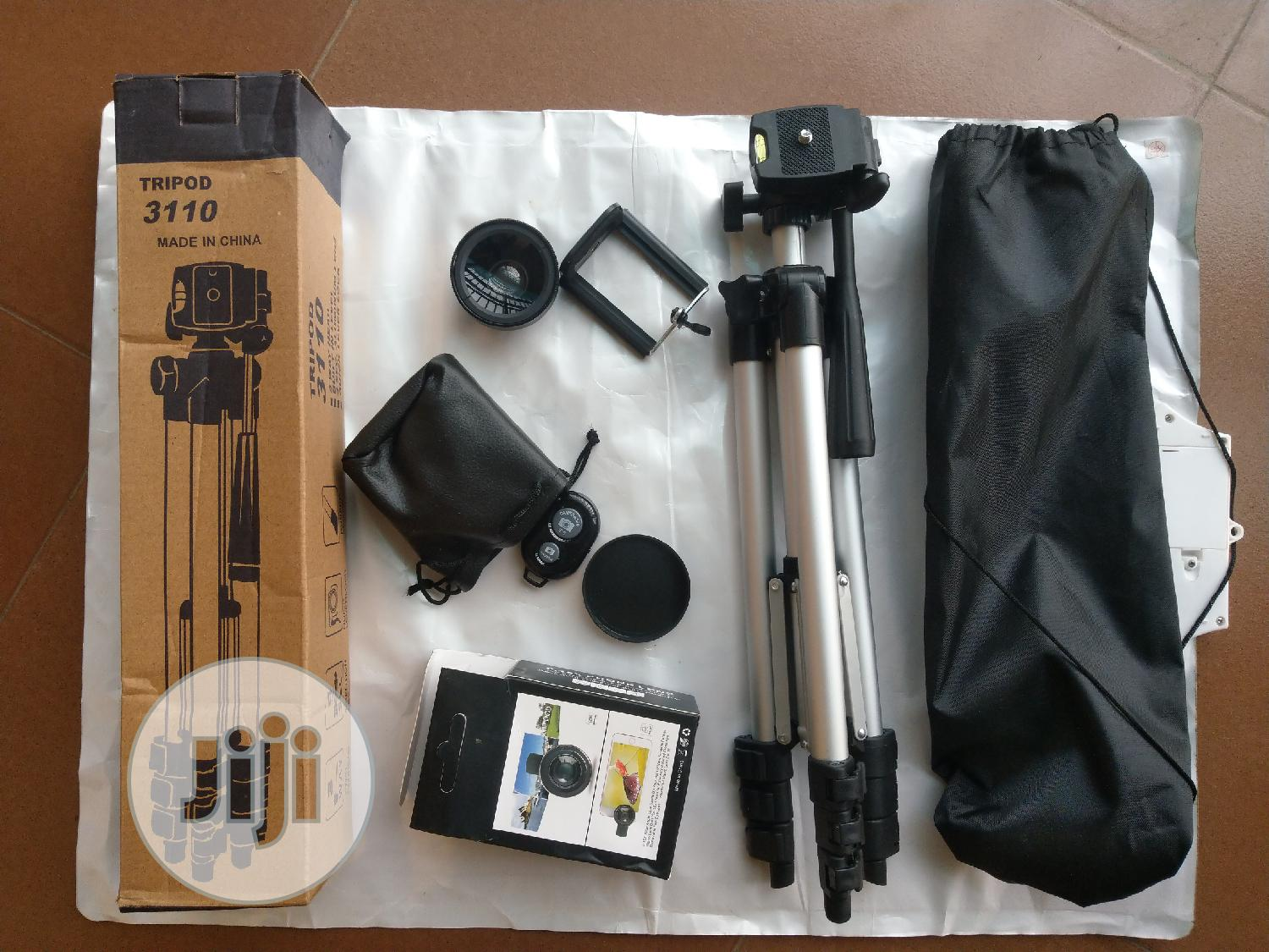 Video Tripod Stand With Free Lens And Remote