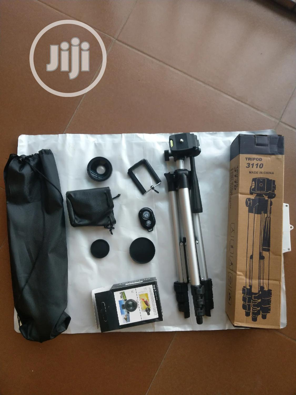 Video Tripod Stand With Free Lens And Remote   Accessories & Supplies for Electronics for sale in Ojo, Lagos State, Nigeria