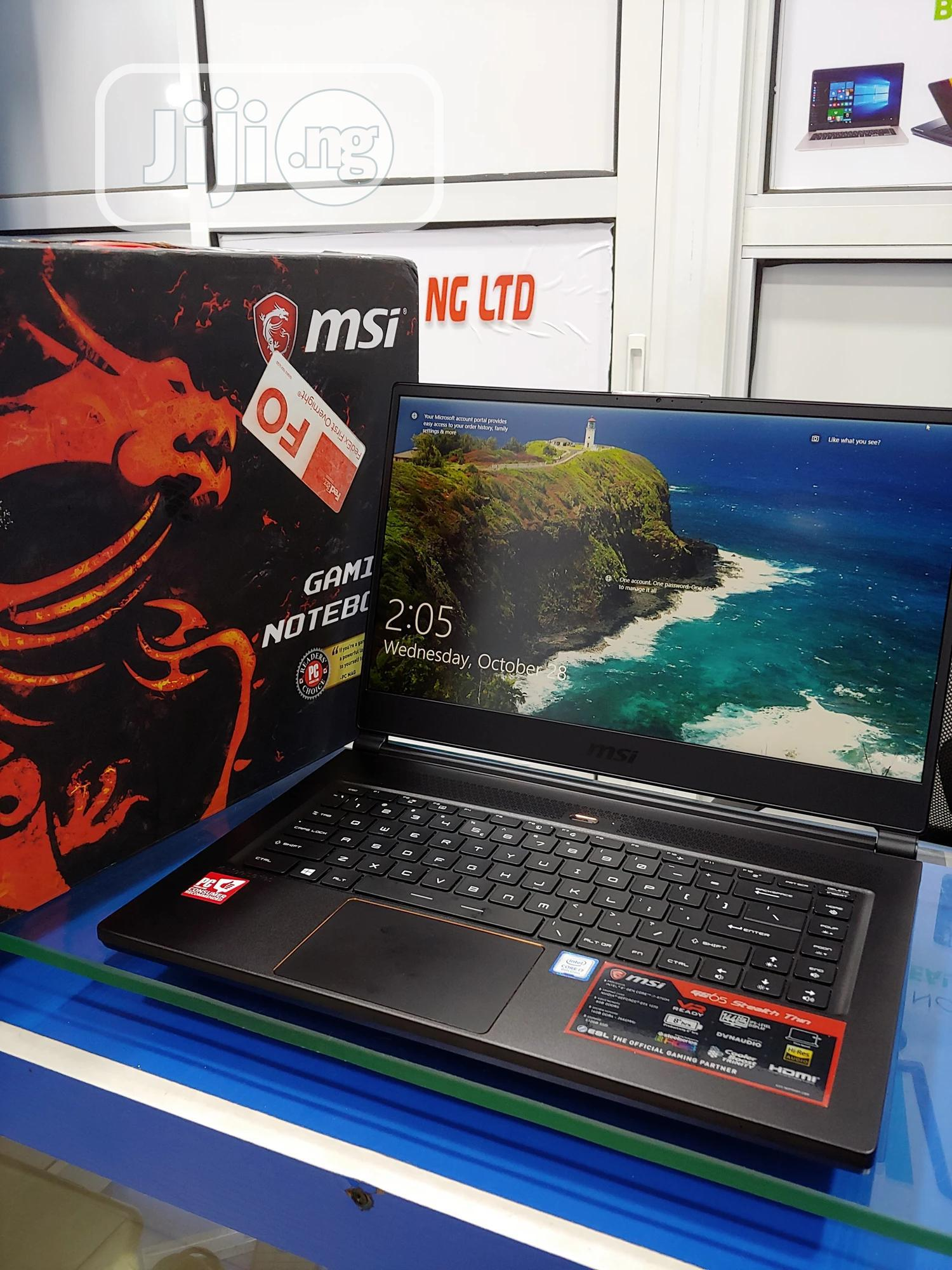 Laptop MSI GS65 Stealth Thin 8RF 16GB Intel Core i7 SSD 512GB   Laptops & Computers for sale in Ikeja, Lagos State, Nigeria