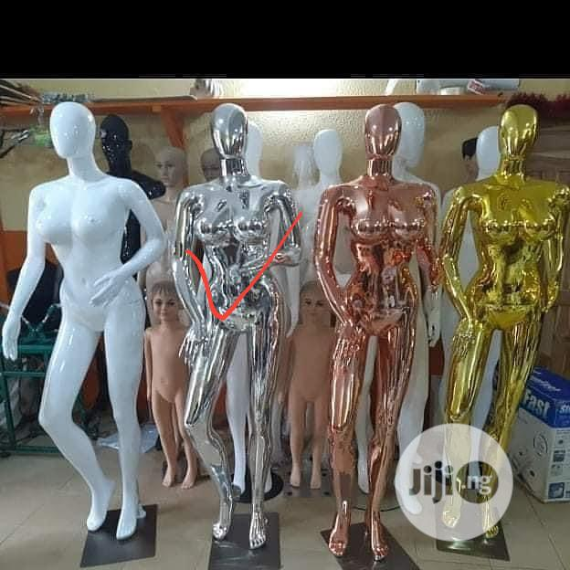 Gold And Silver Female Mannequin