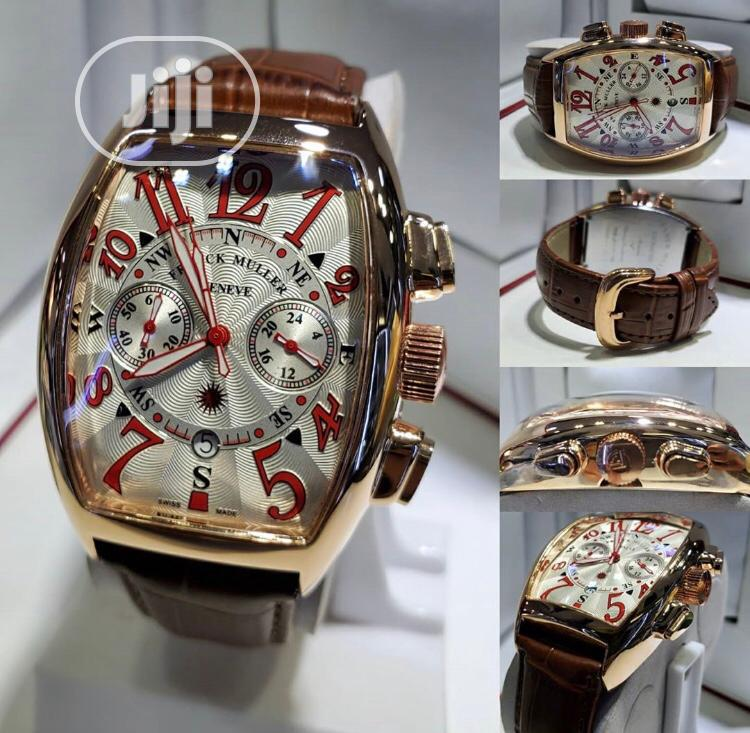 Frank Muller Leather Watch
