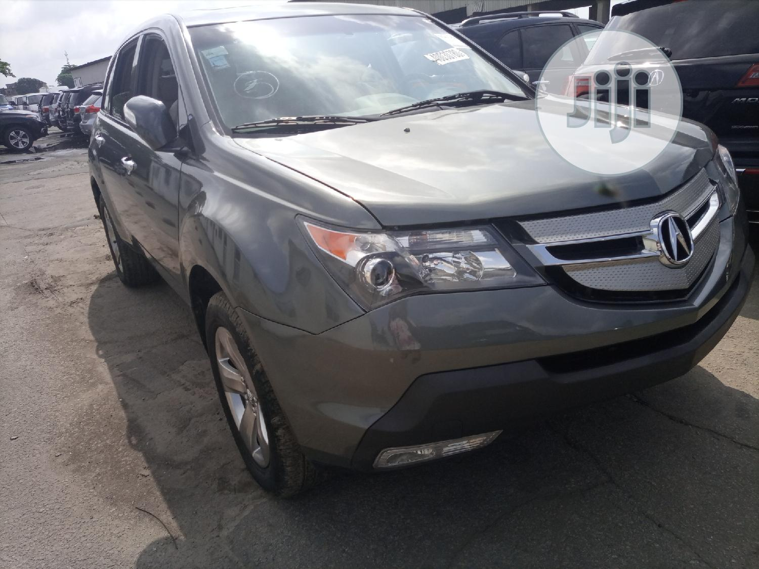Acura MDX 2008 SUV 4dr AWD (3.7 6cyl 5A) Gray | Cars for sale in Apapa, Lagos State, Nigeria