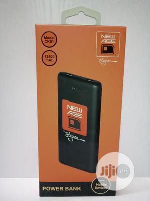 New Age Power Bank 12500mah Black   Accessories for Mobile Phones & Tablets for sale in Lagos State, Ikeja
