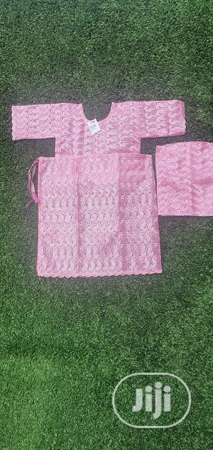 Girls 4 Pc Pink Lace Iro And Buba With Gele And Inner   Children's Clothing for sale in Lagos State, Lekki