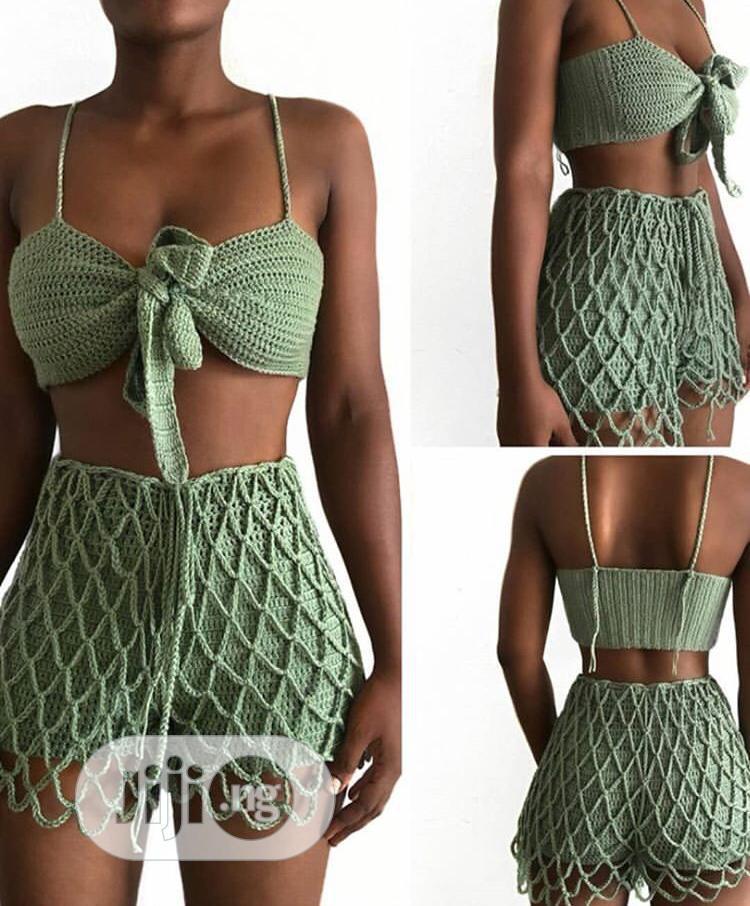 Two Piece Crochet Wear