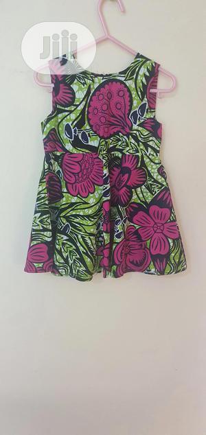 Girls' Sleeveless Floral Ankara Dress   Children's Clothing for sale in Lagos State, Lekki